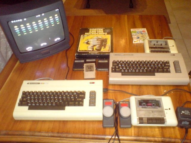 A members C64 and VIC-20 collection